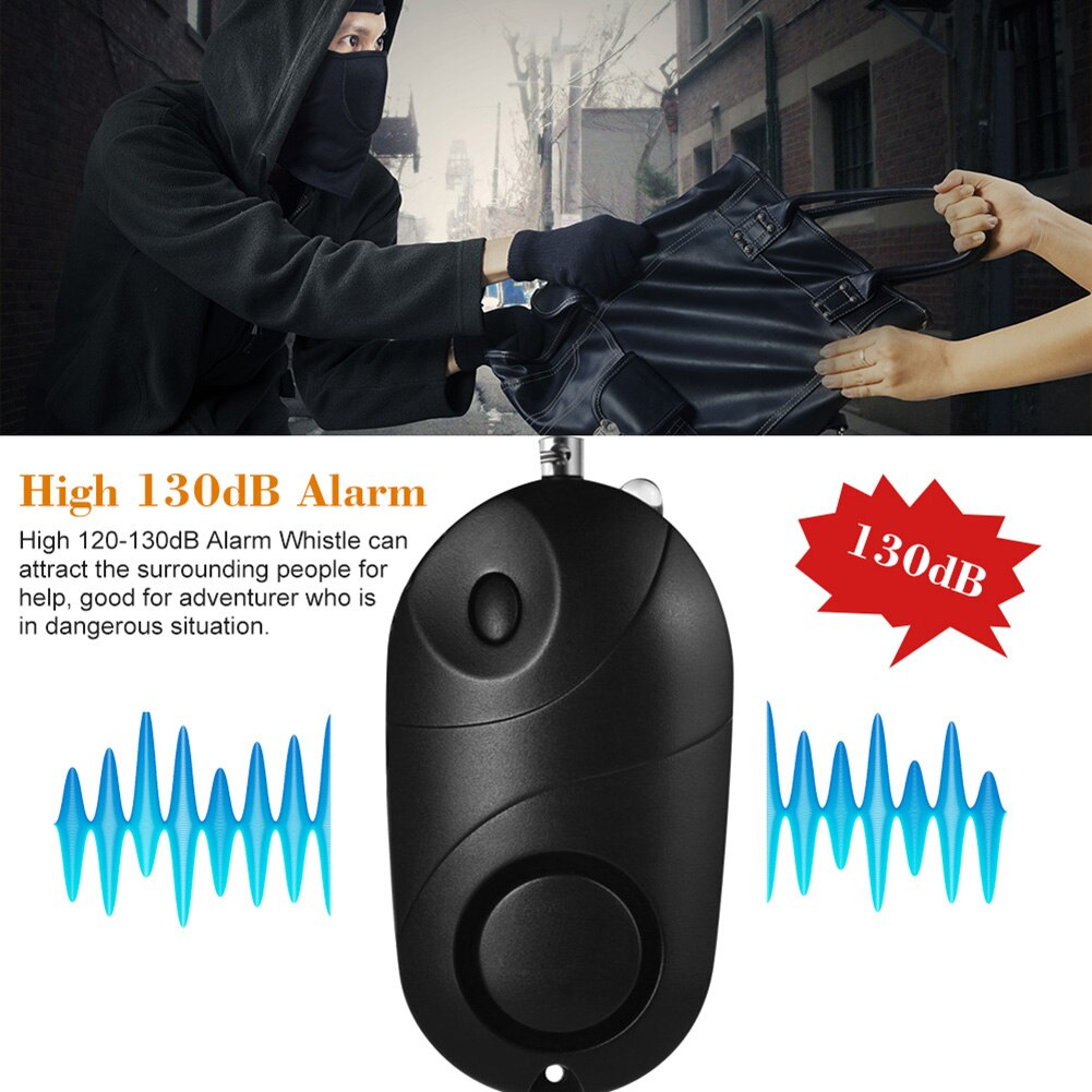 Self Defence Alarm with Flashlight and Keychain