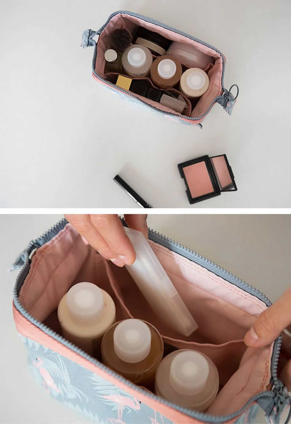 Patterned Travel Toiletry Bag